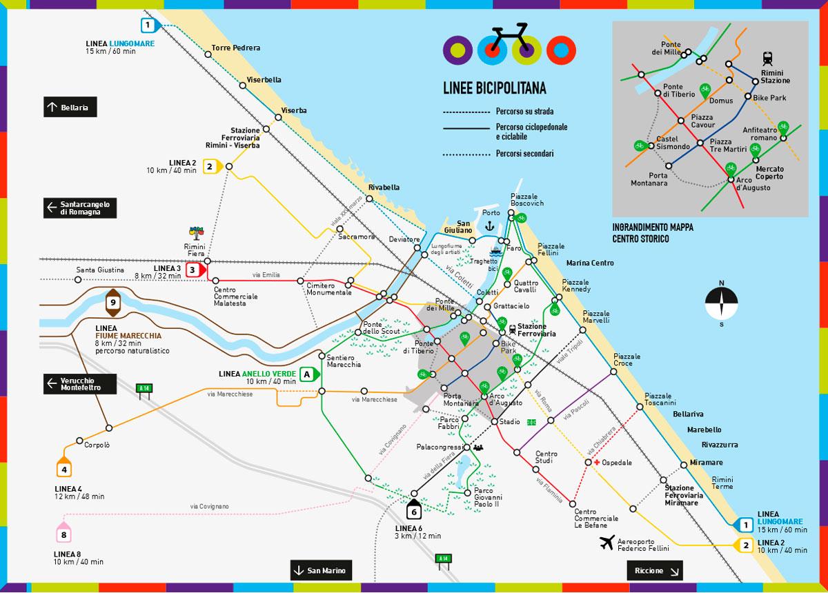 Cartina Riviera Romagnola.Le Piste Ciclabili Di Rimini Visitare La Citta In Bicicletta Riviera Romagnola